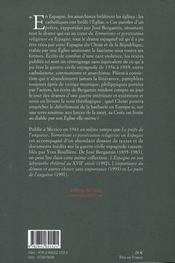 Terrorisme et persécution religieuse en Espagne, 1936/39 - 4ème de couverture - Format classique