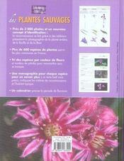 Encyclopédie visuelle des plantes sauvages - 4ème de couverture - Format classique