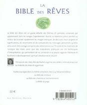 Bible Des Reves (La) - 4ème de couverture - Format classique