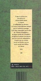 Le passant d'Orphalèse - 4ème de couverture - Format classique