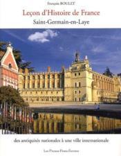 Leçon d'histoire de France ; Saint-Germain-en-Laye - Couverture - Format classique