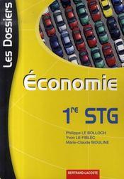 Économie ; première stg - Intérieur - Format classique