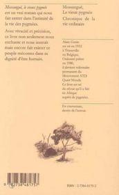 Mossangue, le vieux pygmée ; chronique de la vie ordinaire - 4ème de couverture - Format classique