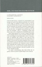 La métamorphose ; la sentence ; le soutier ; et autres récits t.1 - 4ème de couverture - Format classique