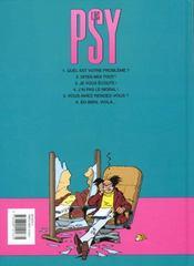 Les psy t.2 ; dites-moi tout - 4ème de couverture - Format classique