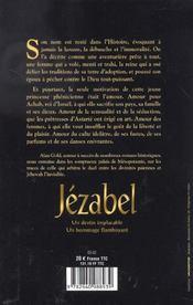 Jezabel La Pricesse Phenicienne Qui Defia Les Prophetes D'Israel - 4ème de couverture - Format classique