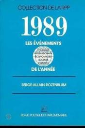 Les 1989 evenements de l'annee - Couverture - Format classique