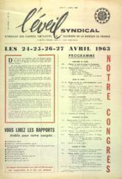 Eveil Syndical (L') N°141 du 01/04/1963 - Couverture - Format classique