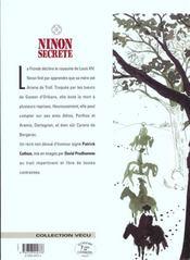 Ninon secrète t.5 ; carnages - 4ème de couverture - Format classique