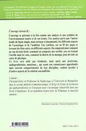 Biophysique De L'Environnement Sonore - 4ème de couverture - Format classique