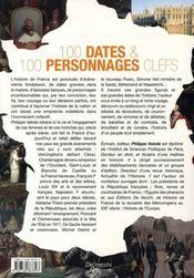 100 dates et 100 personnages clefs - 4ème de couverture - Format classique