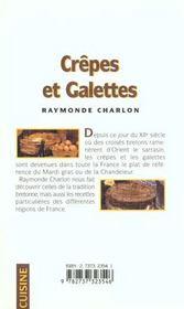 Crepes Et Galettes - 4ème de couverture - Format classique