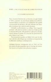 La Chambre Silencieuse Babel 433 - 4ème de couverture - Format classique