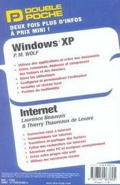 Double Poche ; Windows Xp Et Internet - 4ème de couverture - Format classique