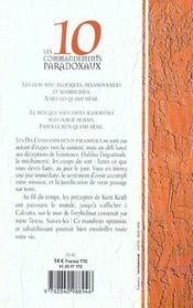 Les dix commandements paradoxaux - 4ème de couverture - Format classique