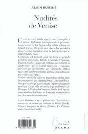 Nudites De Venise - 4ème de couverture - Format classique