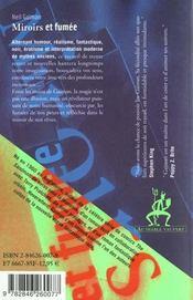 Miroirs et fumées - 4ème de couverture - Format classique