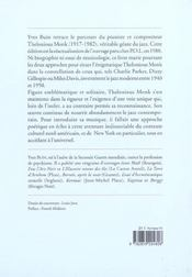 Thelonious monk - 4ème de couverture - Format classique