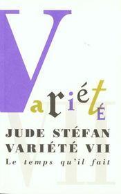 Variete Vii - Intérieur - Format classique