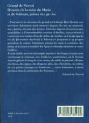 Histoire De La Reine Du Matin - 4ème de couverture - Format classique