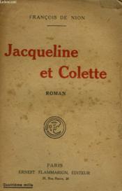 Jacqueline Et Colette. - Couverture - Format classique