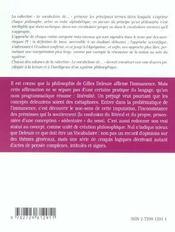 Deleuze - 4ème de couverture - Format classique