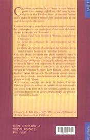 Format T.54 ; Histoire De La Pensée Géographique T.3 ; Les Temps Modernes, Xv-Xvii Siecle - 4ème de couverture - Format classique