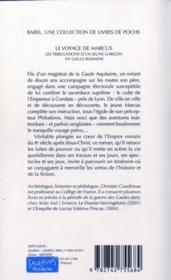 Le Voyage De Marcus Babel 695 - 4ème de couverture - Format classique