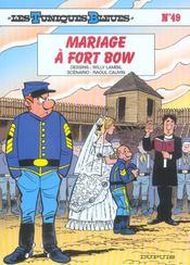 Les tuniques bleues t.49 ; mariage à fort Bow - Intérieur - Format classique