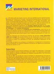 Marketing International - 4ème de couverture - Format classique