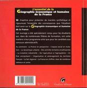 Essentiel Geo Econ.Humaine Fce - 4ème de couverture - Format classique