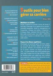 5 Outils Port Bien Gerer Sa Carriere - 4ème de couverture - Format classique