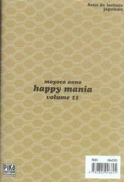 Happy mania t.11 - 4ème de couverture - Format classique