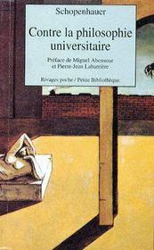 Contre la philosophie universitaire - Couverture - Format classique