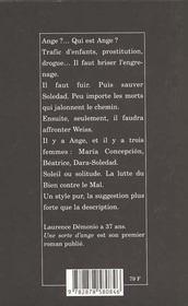 Une Sorte D'Ange - 4ème de couverture - Format classique