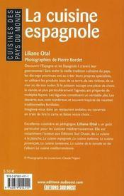 La Cuisine Espagnole/Poche - 4ème de couverture - Format classique