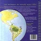 Baltazar le tamanoir - 4ème de couverture - Format classique
