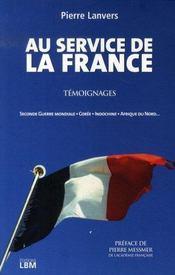 Au service de la france - Intérieur - Format classique