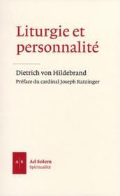 Liturgie et personnalité - Couverture - Format classique