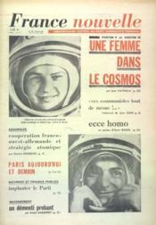 France Nouvelle N°922 du 19/06/1963 - Couverture - Format classique