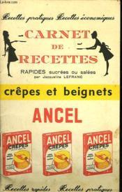 Carnet De Recettes. Crepes Et Beignets - Couverture - Format classique
