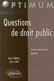 Questions de droit public - Intérieur - Format classique