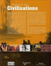 Histoire des civilisations ; grandeurs et déchéances - 4ème de couverture - Format classique