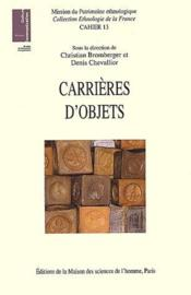 Carrières d'objets - Couverture - Format classique