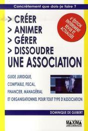 Créer, animer, gérer, dissoudre une association (6e édition) - Intérieur - Format classique