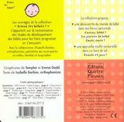 La journee de bebe - 4ème de couverture - Format classique