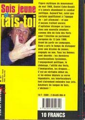 Sois Jeune Et Tais-Toi - 4ème de couverture - Format classique