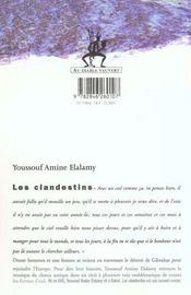 Clandestins - 4ème de couverture - Format classique