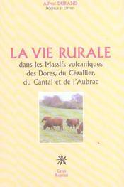 La Vie Rurale Dans Les Massifs Volcaniques - Intérieur - Format classique
