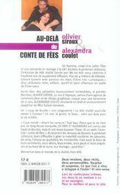 Au-Dela Du Conte De Fees - 4ème de couverture - Format classique